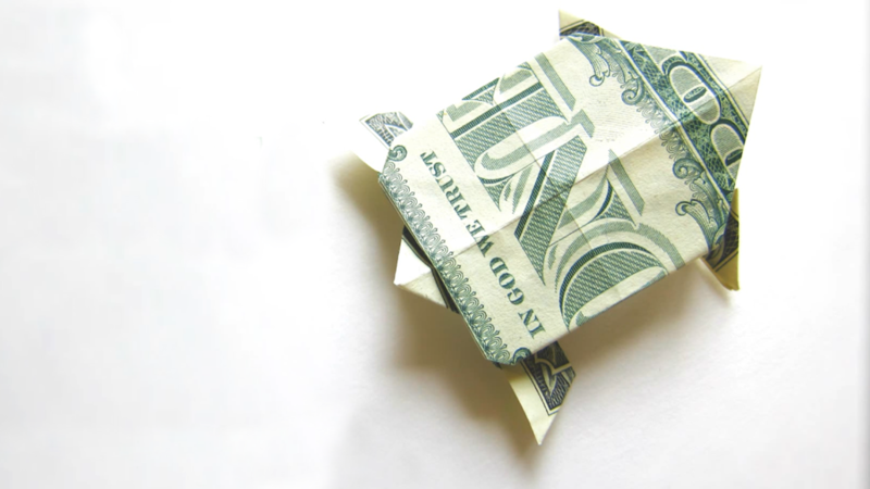 How To Fold A Dollar Origami Turtle