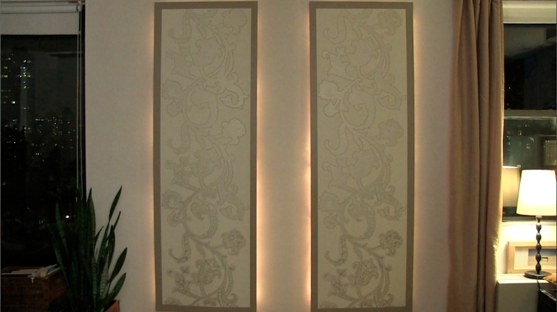 Diy lighted floating wall panels aloadofball Gallery