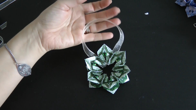 How to Make an Origami Flower Ornament