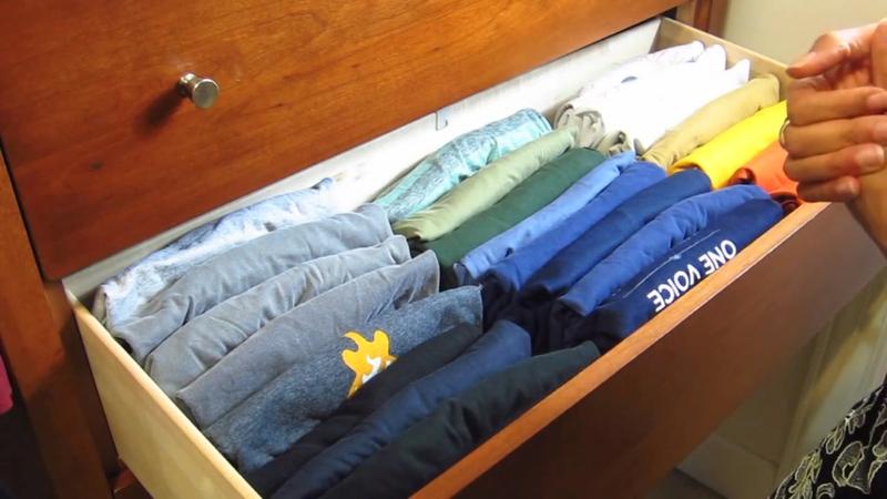 10 clothing organization tips for T shirt drawer organization
