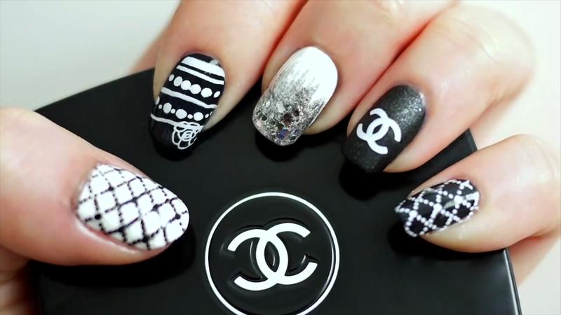 DIY Chanel Inspired Nail Polish Art