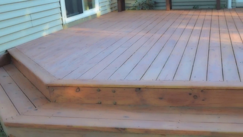 How to build a ground level deck Building a deck