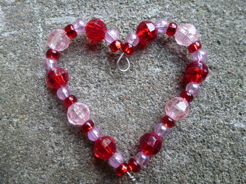 How to Make a Beaded Heart Pendant