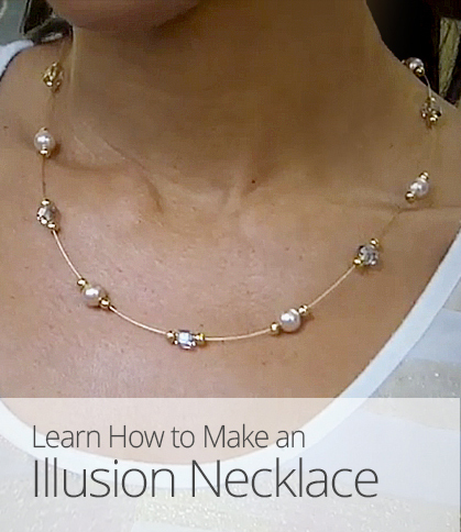 Chic Design Cafe How To Make An Illusion Necklace Jpg