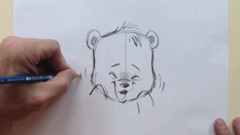 how to draw a bear and cub