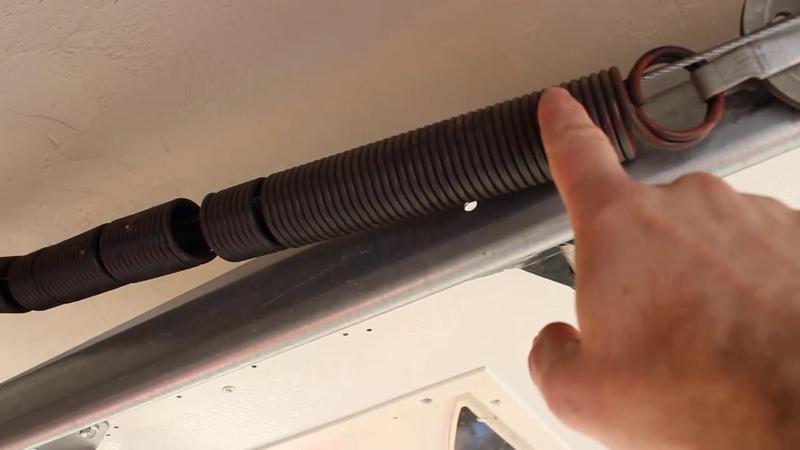 Garage door extension spring replacement for Replace garage torsion spring
