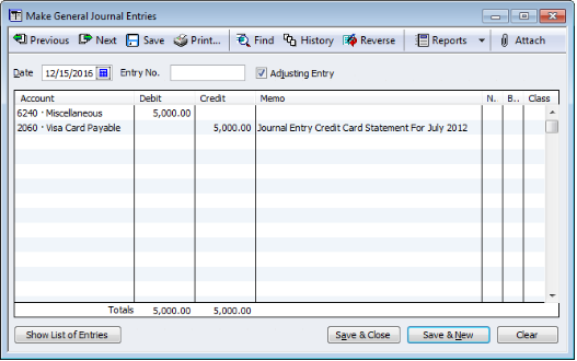 how to make a journal entry in quickbooks