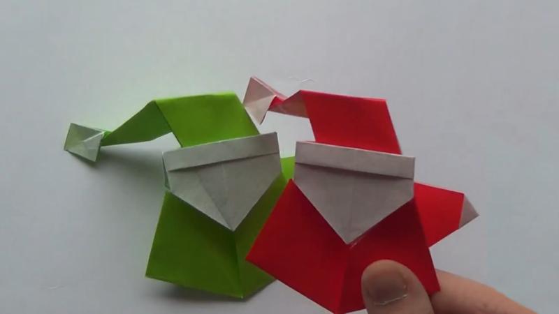 How to make an origami santa claus for Make origami santa claus