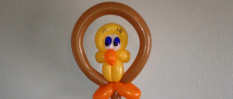 Tweety Bird Balloon Animal Art