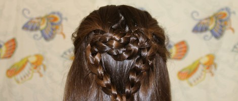 Valentine's Day Heart Braid Hairstyle