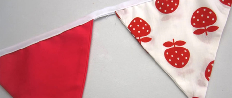 DIY Easy Fabric Bunting Flags