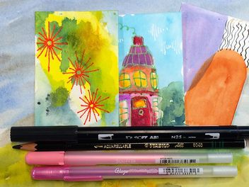 New Curious course - Mixed Media Watercolor 101