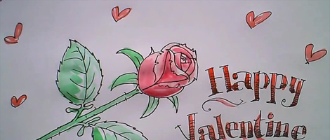 How to Draw and Ink a Rose