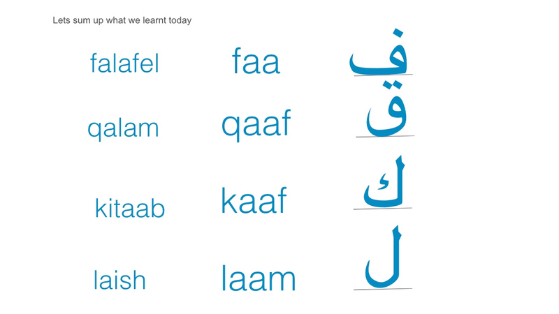 Read and write arabic letters lesson 05 silverado