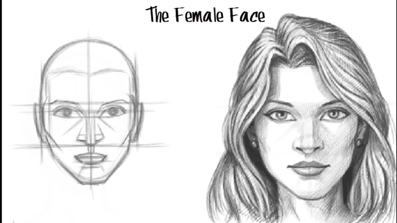a3e1d11c21 How to Draw a Female Face