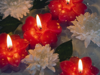Sneak Peek: How to Make Floating Flower Candles!