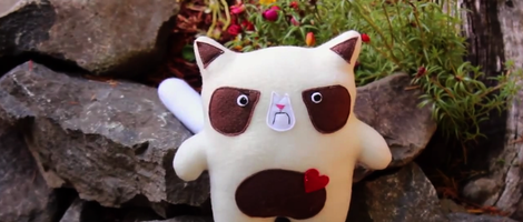 DIY Grumpy Cat Stuffed Animal