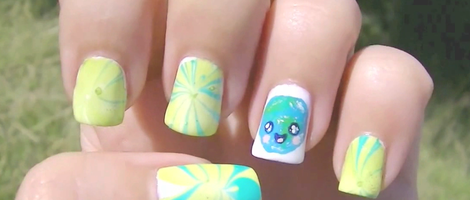 Cute Earth Day Nail Art