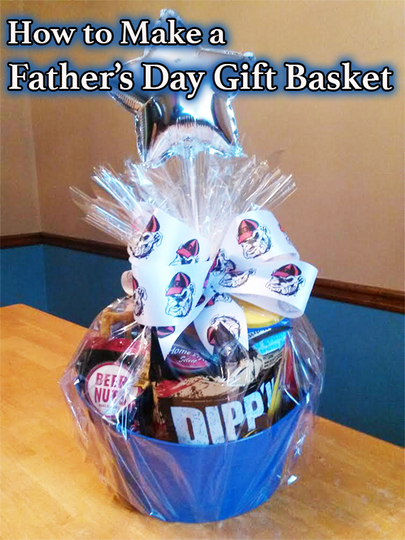 Making A Fathers Day Gift Basket