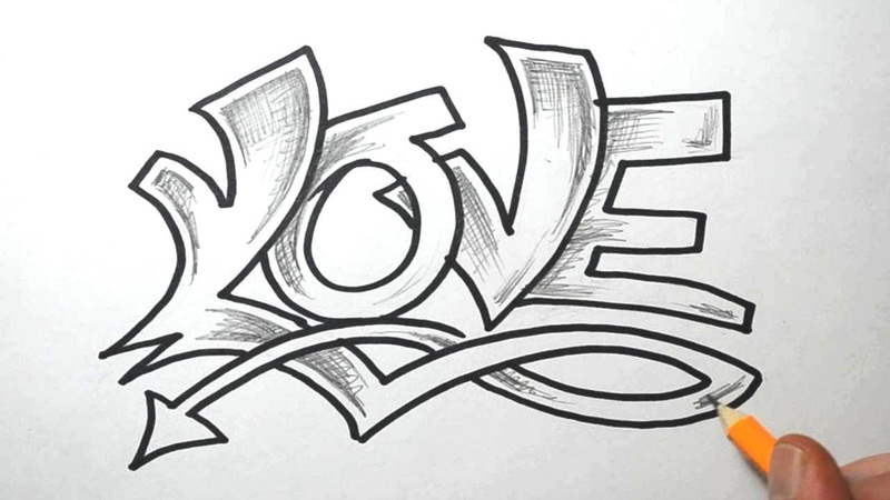 How To Draw Graffiti Bubble Letters