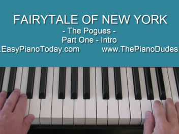 "I have a new lesson, ""Fairytale of New York"""