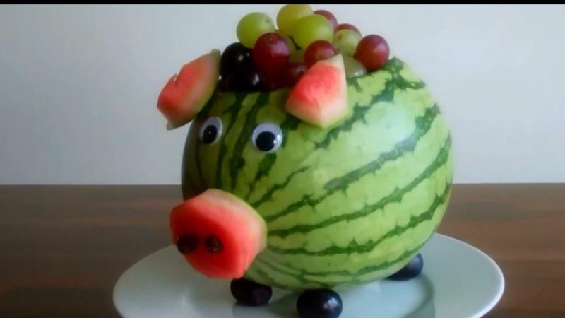 How To Make A Watermelon Pig Centerpiece Curious Com