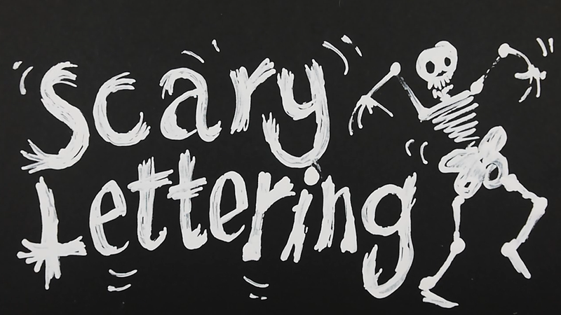 How to Draw Spooky Halloween Lettering