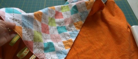 How to Make a Flannel Receiving Blanket