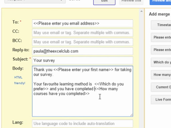 I have a new lesson, Auto-Response Form with Google Forms!