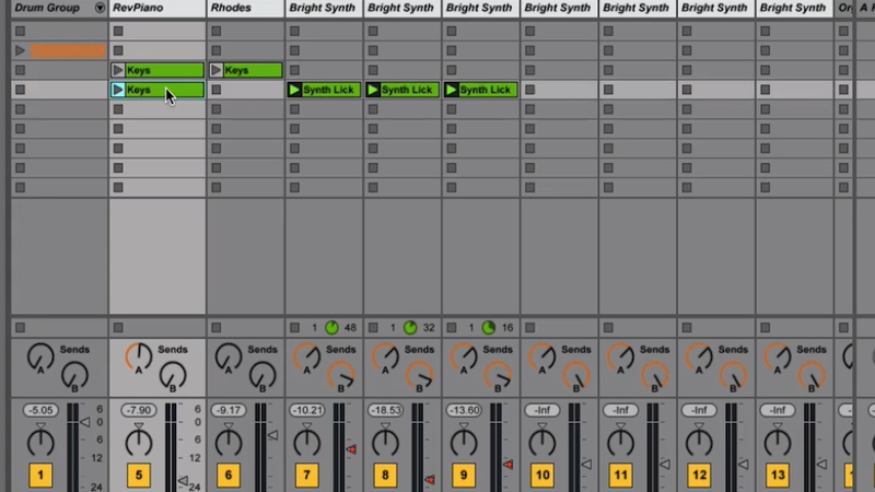 Resizing Views & Moving Clips in Ableton