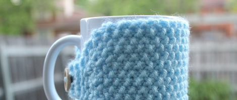 Seed Stitch Mug Cozy