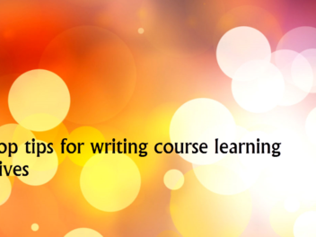 How to write learning objectives - New lesson