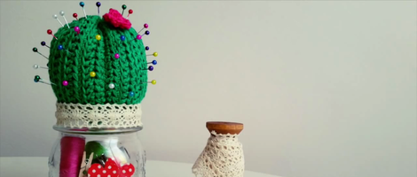 How to Make a Crochet Cactus Pincushion