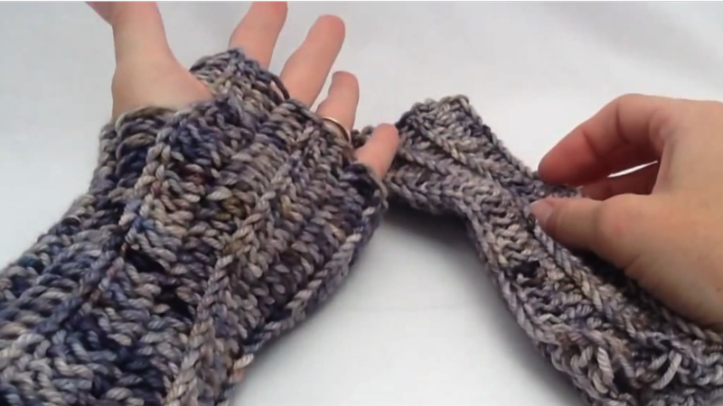 How To Crochet Arm Warmers Pt 2