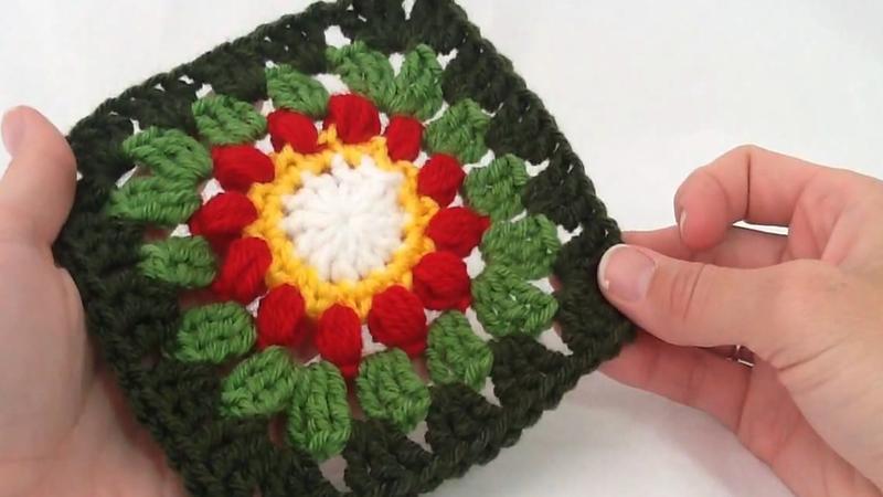 Left Handed Crochet Mimis Square Pt 2