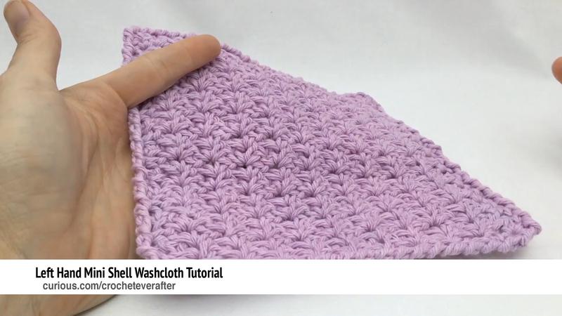Left Handed Mini Shell Stitch Crochet