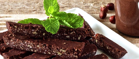 Paleo Peppermint Chocolate Sticks