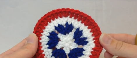 How to Crochet a Patriotic Circle Motif
