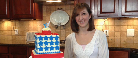 DIY 4th of July Cake Decoration