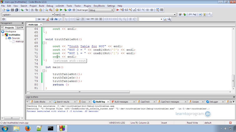 Using Truth Tables in C++ Programming