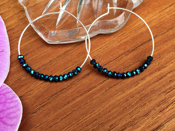 We have a new lesson, How to Make Instant Beaded Hoop Earrings!