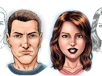 Comic Book Faces in Sketchbook Pro 8, now on Curious.com