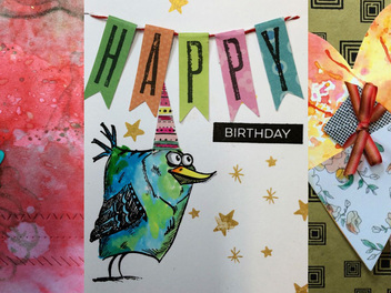 How to Make Mixed Media Cards, now on Curious.com