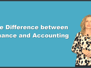 New Curious lesson - Finance vs. Accounting