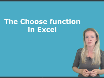 I have a new lesson, The CHOOSE Function in Excel!