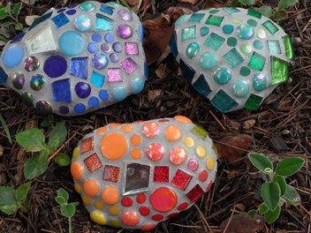 Learn To Make Mosaic Rainbow Rocks On Curious.com
