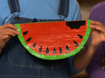 How to Make a Duct Tape Watermelon Purse