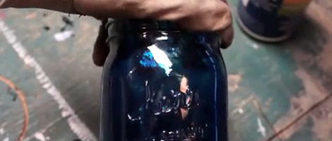 How to Color Tint a Mason Jar
