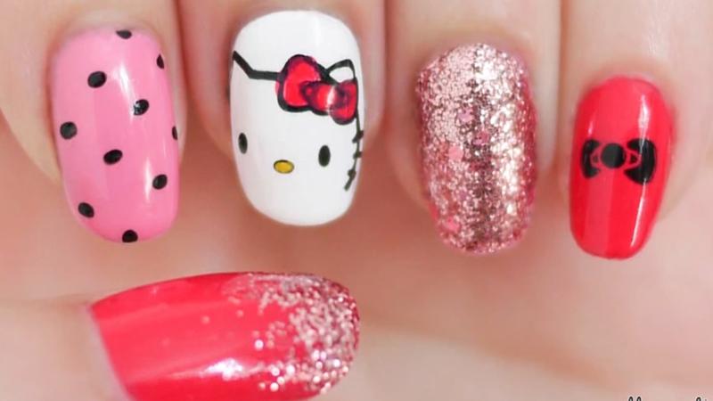 Diy Hello Kitty Inspired Nails