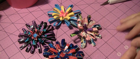 DIY Duct Tape Fireworks Hair Clips